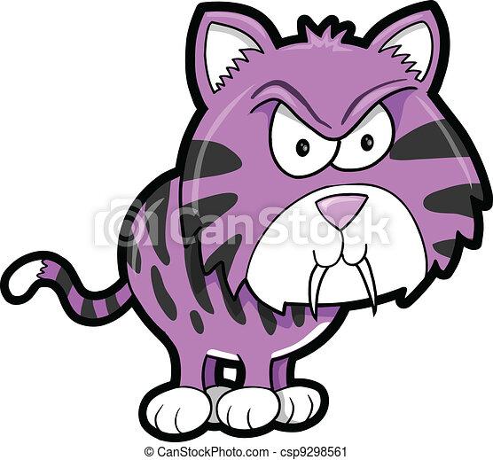 Tough Mean Tiger Animal Vector  - csp9298561