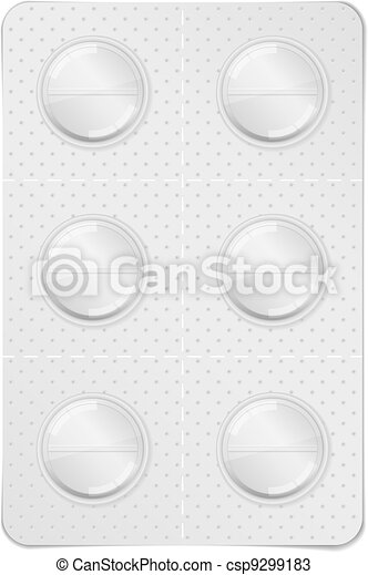 Pills in blister pack - csp9299183