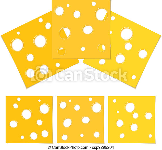 Slices of cheese - csp9299204