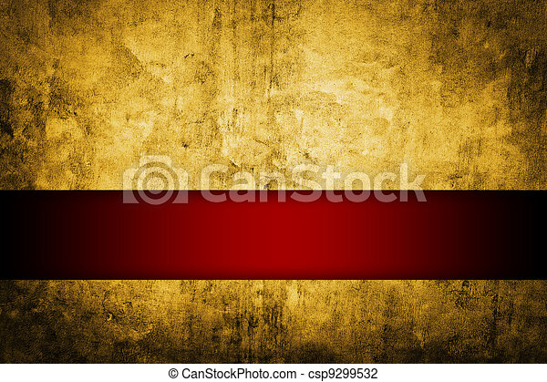 gold background with rich red ribbon - csp9299532
