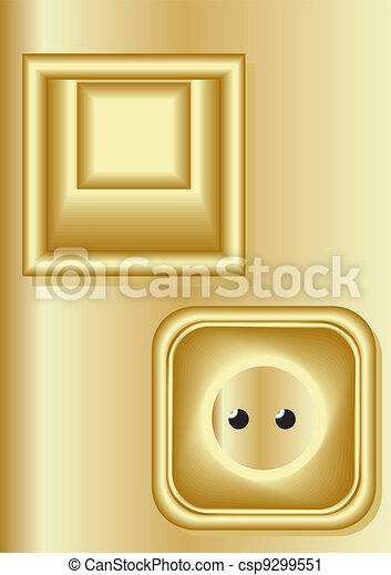 Light switch, electrical outlet. - csp9299551