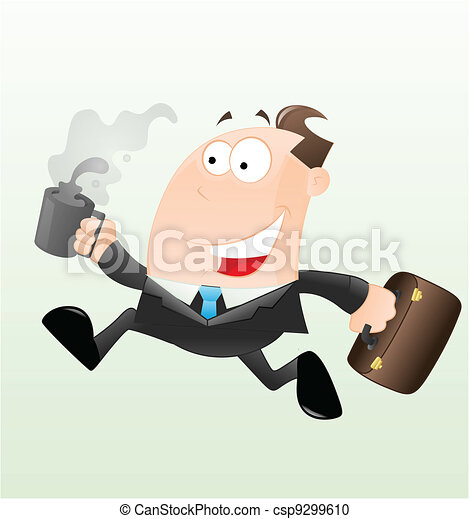 Running Businessman Vector - csp9299610