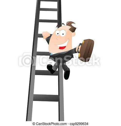 Businessman Growing to Success - csp9299634