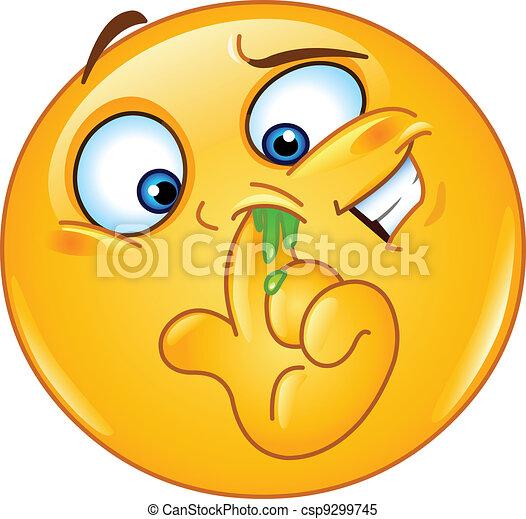 Picking nose emoticon - csp9299745
