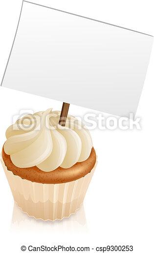 Cupcake sign - csp9300253