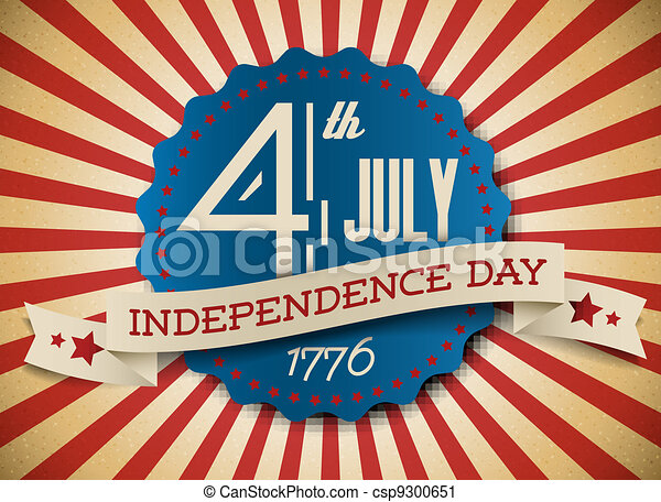 Vector independence day badge / poster - csp9300651
