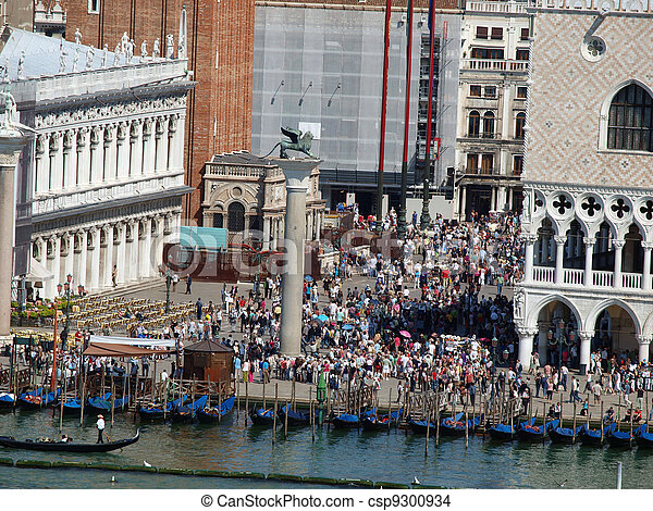 Seaview of Piazzetta, San Marco and The Doge's Palace, Venice - csp9300934