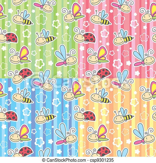 patterns with insects - csp9301235