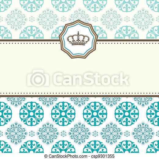 Baroque card - csp9301355