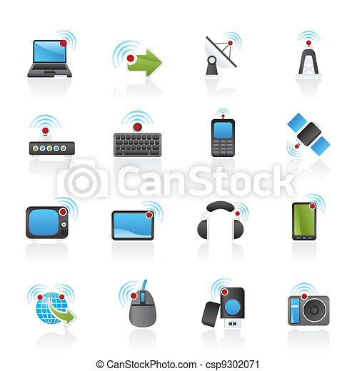 wireless and technology icons - csp9302071