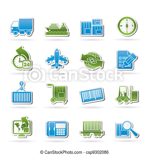 shipping and logistics icons - csp9302086