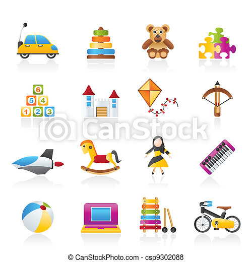 different kind of toys icons - csp9302088