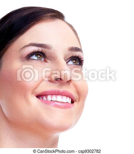 Beautiful woman face. Smile. - csp9302782