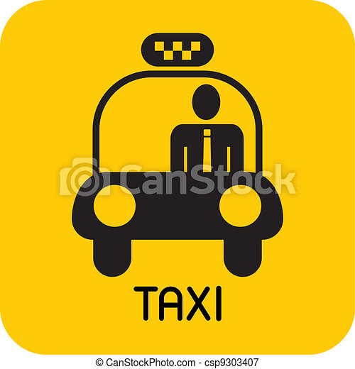 taxi, -, vector, icono - csp9303407