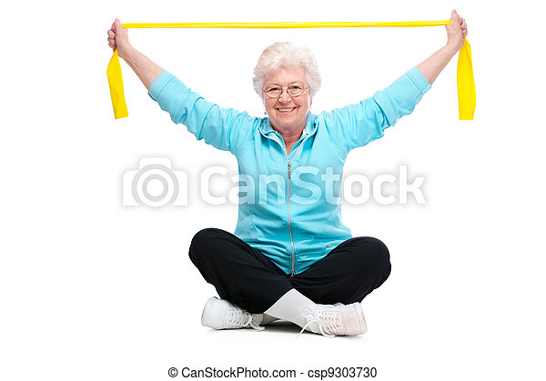 senior woman at gym - csp9303730
