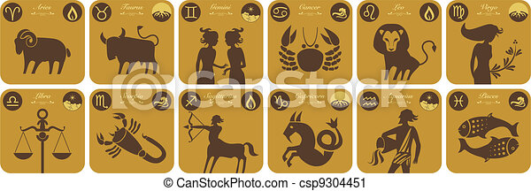 Modern Zodiac Signs - csp9304451