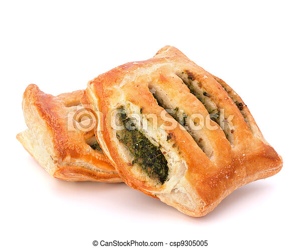 Puff pastry bun isolated on white background. - csp9305005