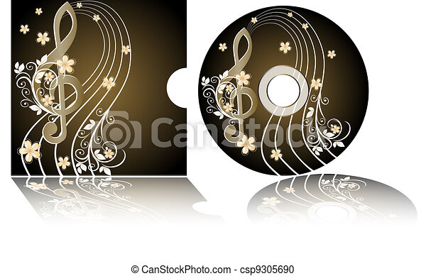 CD label with the treble clef - csp9305690