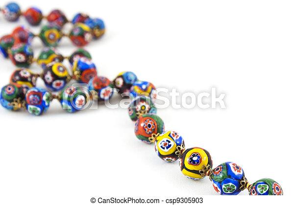 murano glass colourful necklace - csp9305903