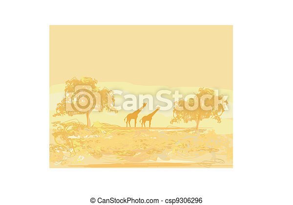 African fauna and flora  - csp9306296