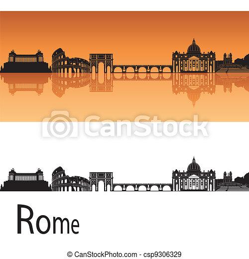 Rome Skyline - csp9306329