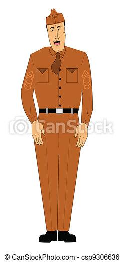 military man  - csp9306636