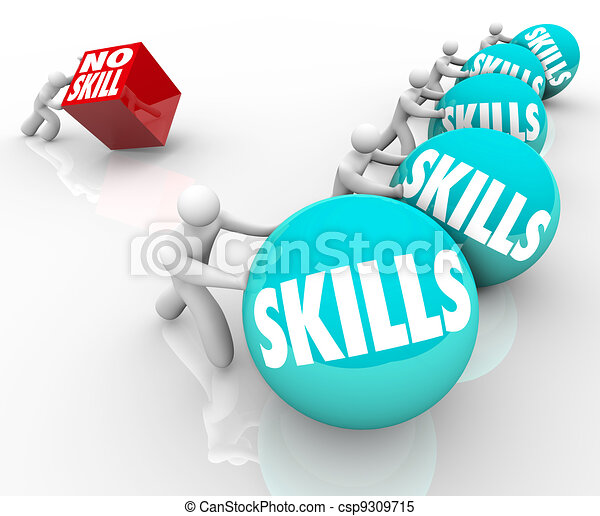 Skill vs No Skills Competition Unskilled and Skilled People - csp9309715