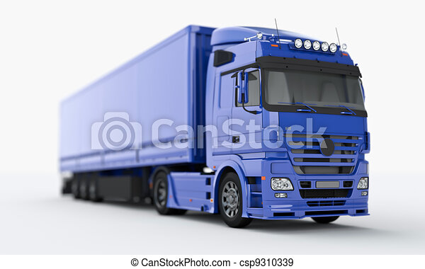 Truck on a light background - csp9310339