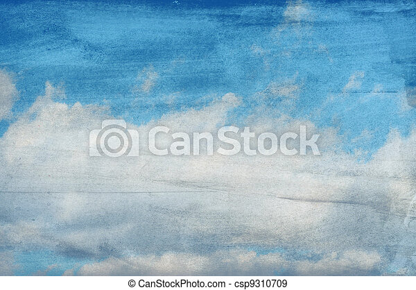 clouds on a textured paper background - csp9310709