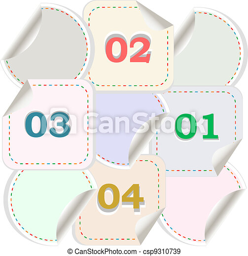 Design of advertisement numbers labels stickers - csp9310739