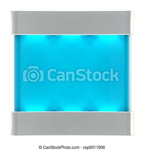Copyspace stand with illumination isolated - csp9311906