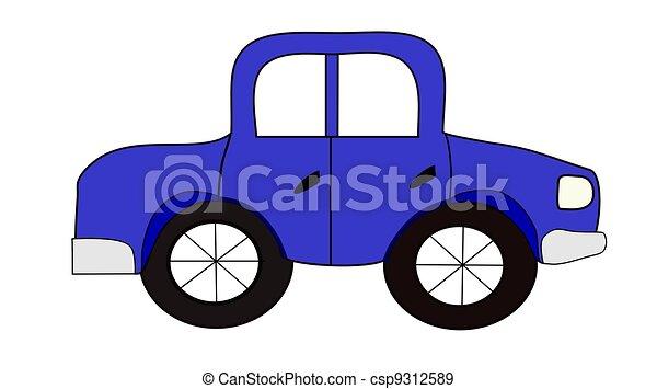 Blue Automobile - csp9312589