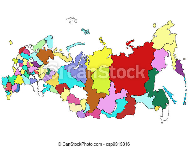 Map of Russia - csp9313316