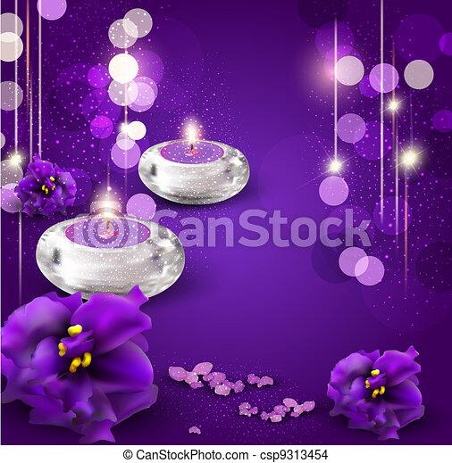 zeichnung von b a veilchen lila kerzen hintergrund romantische csp9313454 suchen. Black Bedroom Furniture Sets. Home Design Ideas