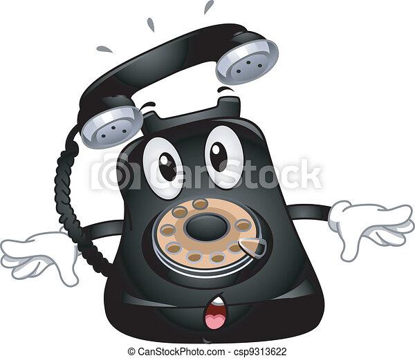 Telephone Mascot - csp9313622