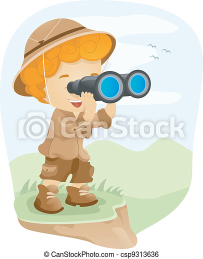 Binocular Kid - csp9313636