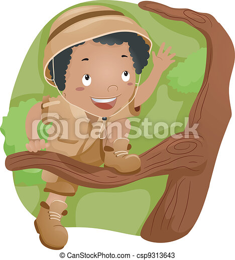 Tree-climbing Kid - csp9313643