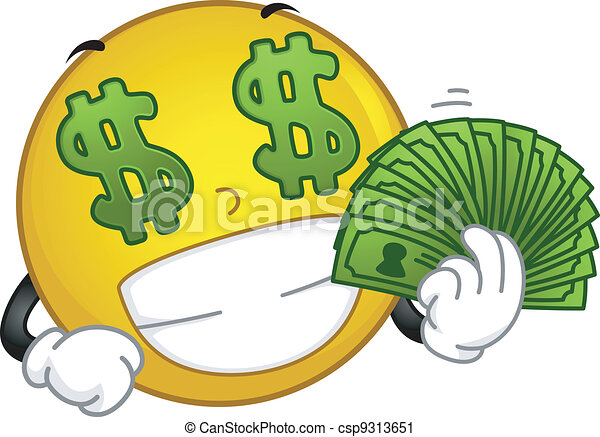 Money-loving Smiley - csp9313651