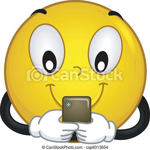 Techie Smiley - csp9313654
