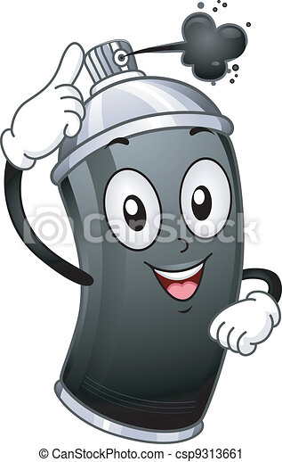 Spray Paint Mascot - csp9313661