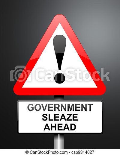 Government sleaze concept. - csp9314027