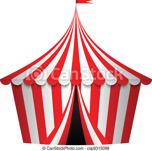 Vector illustration of circus tent - csp9315098