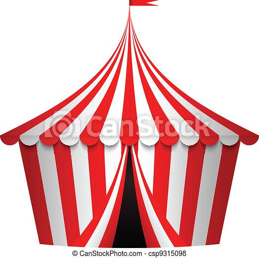 Vector illustration of circus tent - csp9315098