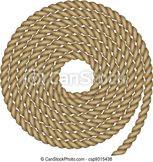 Vector illustration of rope - csp9315438