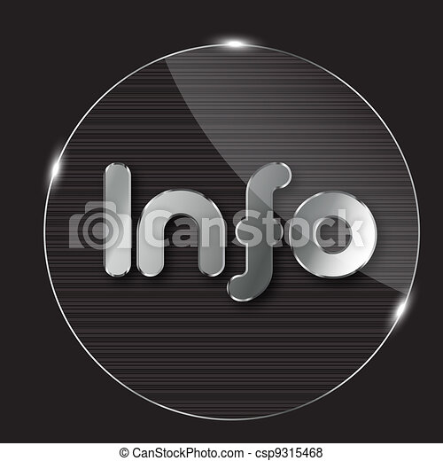 vector information glass buton - csp9315468