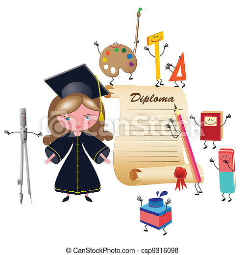 Graduate girl - csp9316098