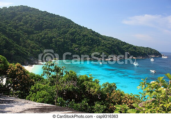 Similan islands, Thailand, Phuket - csp9316363