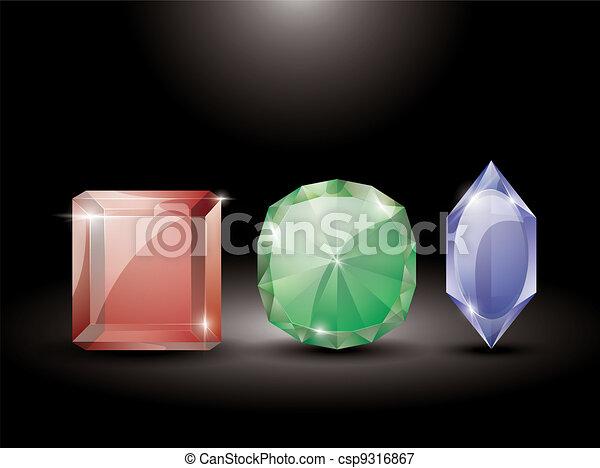 collection of precious stones - csp9316867
