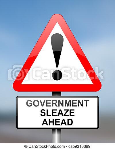 Government sleaze concept. - csp9316899