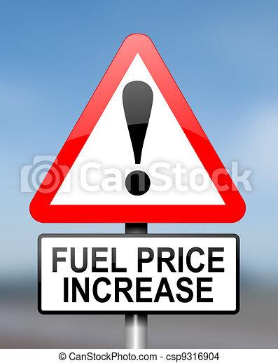 Fuel price warning. - csp9316904